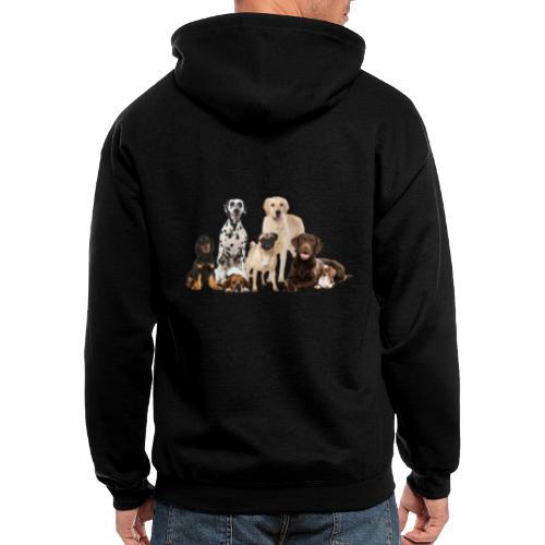 German shepherd puppy dog breed dog - Men's Zip Hoodie