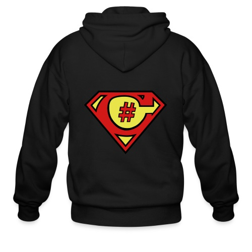 C# Hero Woman - Men's Zip Hoodie