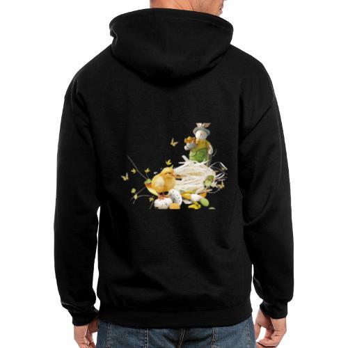 easter bunny easter egg holiday - Men's Zip Hoodie