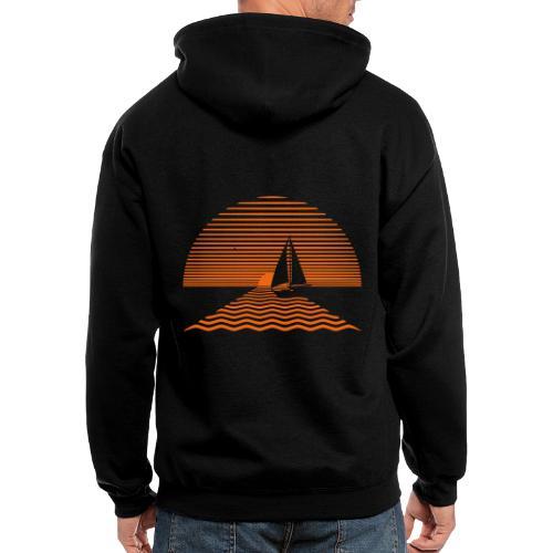Sunset Sailboat - Men's Zip Hoodie