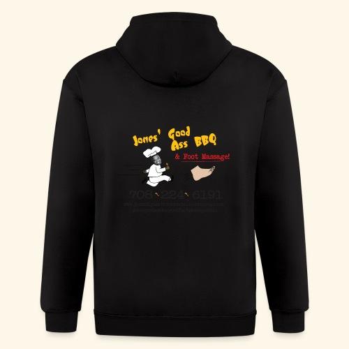 Jones Good Ass BBQ and Foot Massage logo - Men's Zip Hoodie