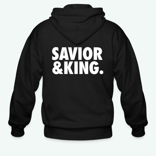 SAVIOR AND KING - Men's Zip Hoodie