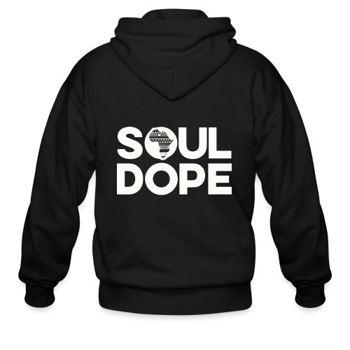 souldope white tee - Men's Zip Hoodie