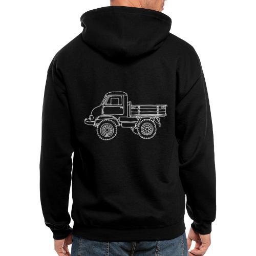 Off-road truck, transporter - Men's Zip Hoodie