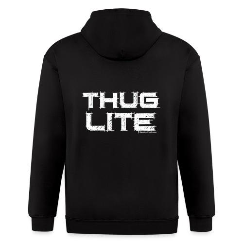 Thug Lite WHT.png - Men's Zip Hoodie