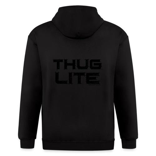 Thug Lite BLK.png - Men's Zip Hoodie