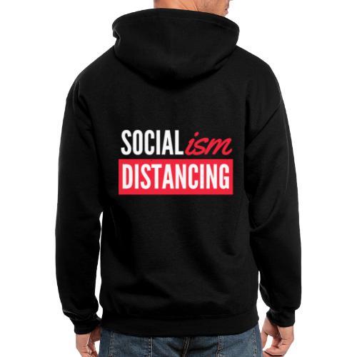 SOCIALism DISTANCING - Men's Zip Hoodie