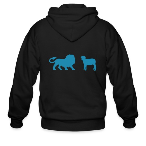 Lion and the Lamb - Men's Zip Hoodie