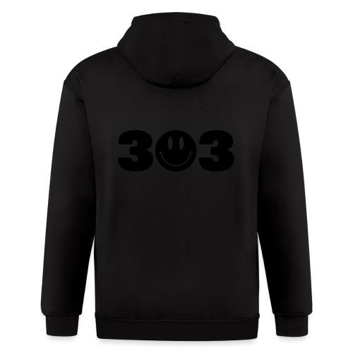 3 Smiley 3 - Men's Zip Hoodie