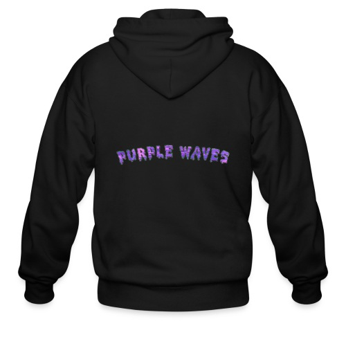 Purple Waves - Men's Zip Hoodie