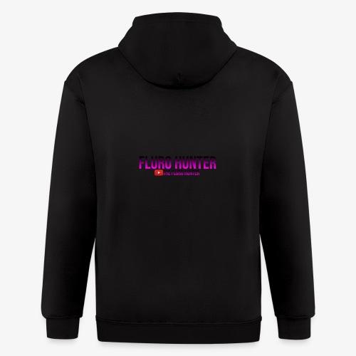 The Fluro Hunter Black And Purple Gradient - Men's Zip Hoodie