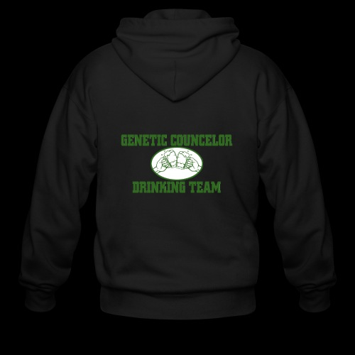 genetic counselor drinking team - Men's Zip Hoodie