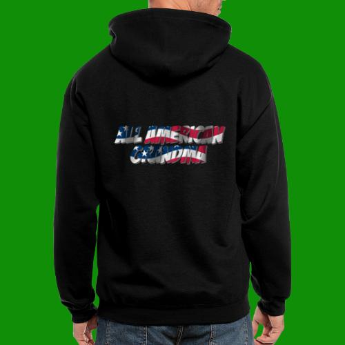 ALL AMERICAN GRANDMA - Men's Zip Hoodie