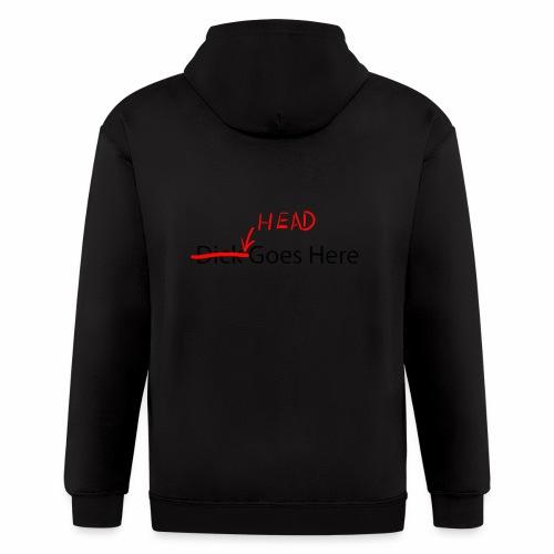 Head goes here - Men's Zip Hoodie