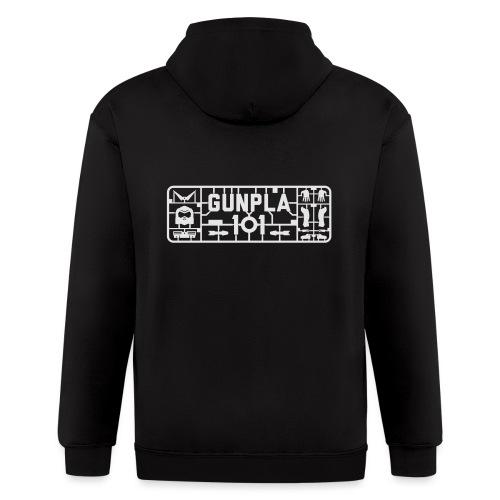 Gunpla 101 Men's T-shirt — Zeta Blue - Men's Zip Hoodie