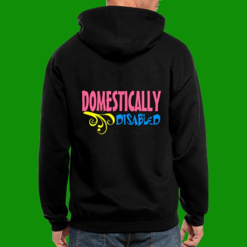 DOMESTICALLY DISABLED - Men's Zip Hoodie