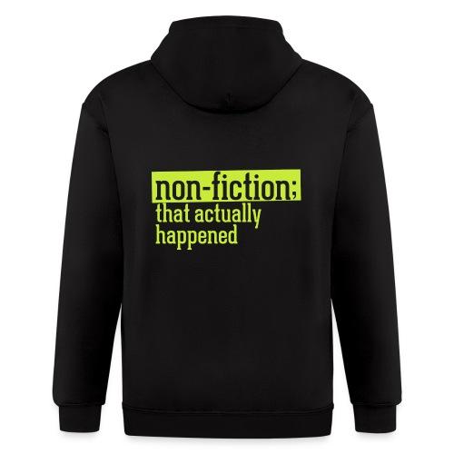 non fiction.png - Men's Zip Hoodie