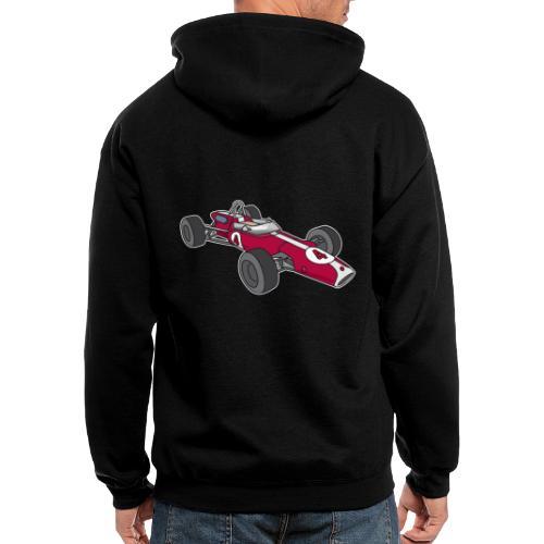 Red racing car, racecar, sportscar - Men's Zip Hoodie