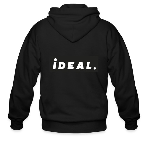 black ideal classic logo - Men's Zip Hoodie