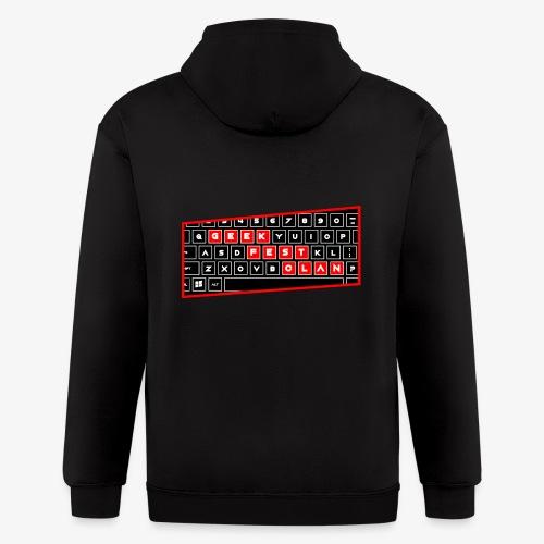 Keyboard PC Red - Men's Zip Hoodie