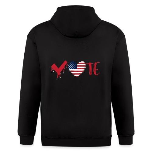 vote heart red - Men's Zip Hoodie