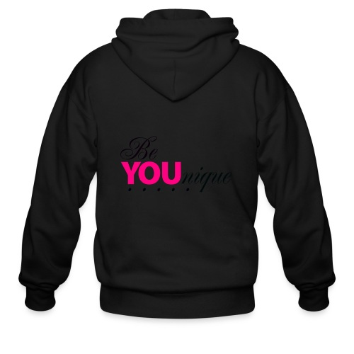 Be Unique Be You Just Be You - Men's Zip Hoodie