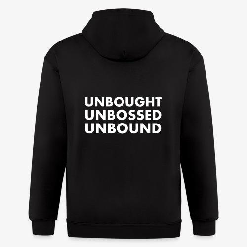 Unbought Unbought Unbound - Men's Zip Hoodie