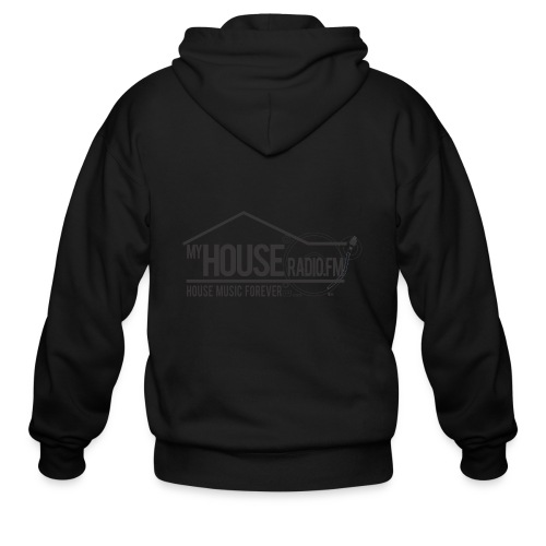 My House Radio Black Logo - Men's Zip Hoodie
