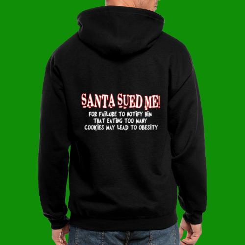 Santa Sued Me - Men's Zip Hoodie
