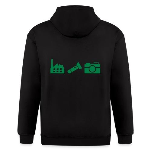 DCUE_Icons_Small - Men's Zip Hoodie