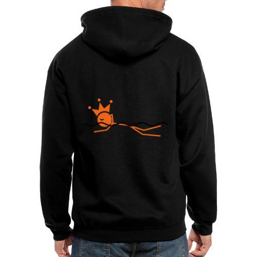 Winky Swimming King - Men's Zip Hoodie