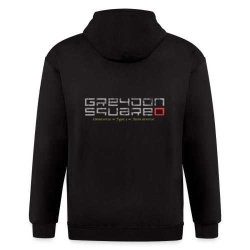 Greydon Square Blue & Gold - Men's Zip Hoodie
