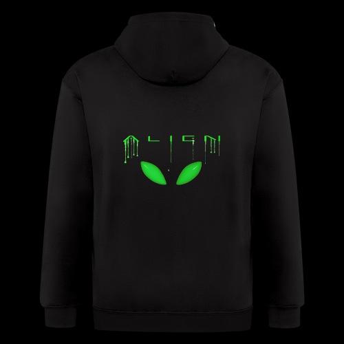 Alien Dribble with ET eyes - Green - Men's Zip Hoodie