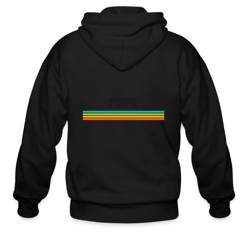 striped mug black logo png - Men's Zip Hoodie