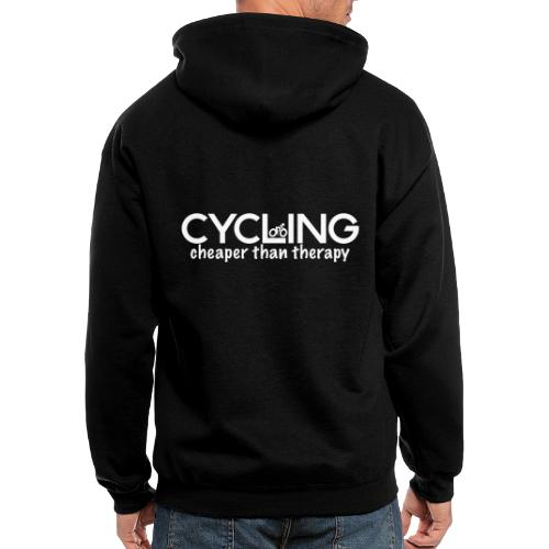 Cycling Cheaper Therapy - Men's Zip Hoodie