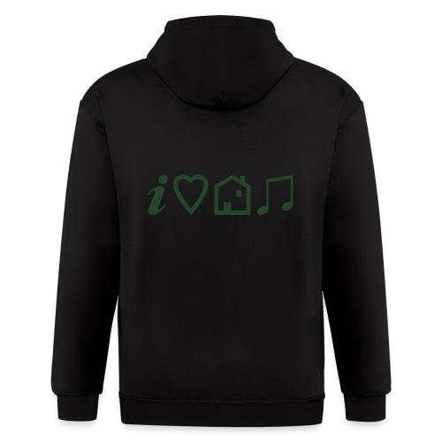 I Heart House Music - Symbolic Design 1 - Men's Zip Hoodie