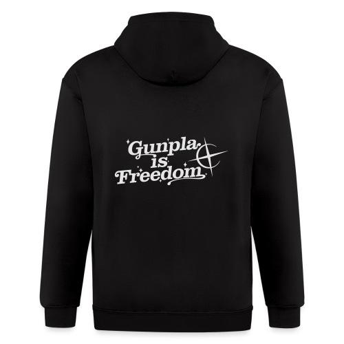 Freedom Men's T-shirt — Banshee Black - Men's Zip Hoodie