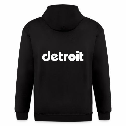 Detroit stars white - Men's Zip Hoodie