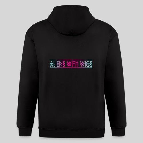 ALIENS WITH WIGS - Logo - Men's Zip Hoodie