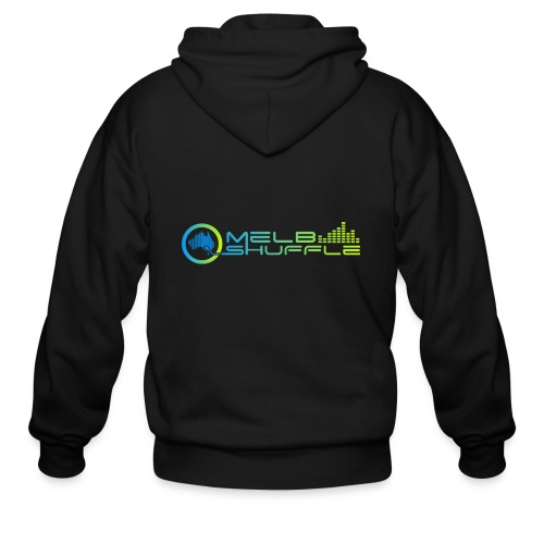 Melbshuffle Gradient Logo - Men's Zip Hoodie