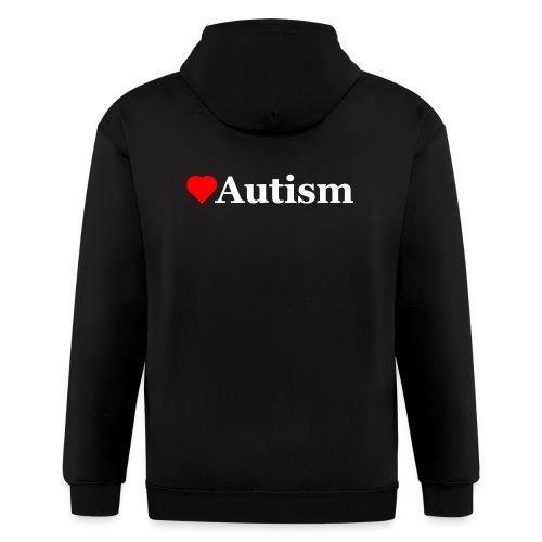 Heart Autism w - Men's Zip Hoodie