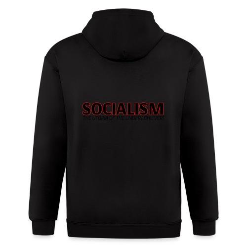 SOCIALISM UTOPIA - Men's Zip Hoodie