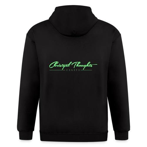 Christyal Thoughts C3N3T31 Lime png - Men's Zip Hoodie