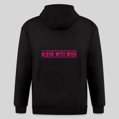 AliensWithWigs-Logo-Rose - Men's Zip Hoodie