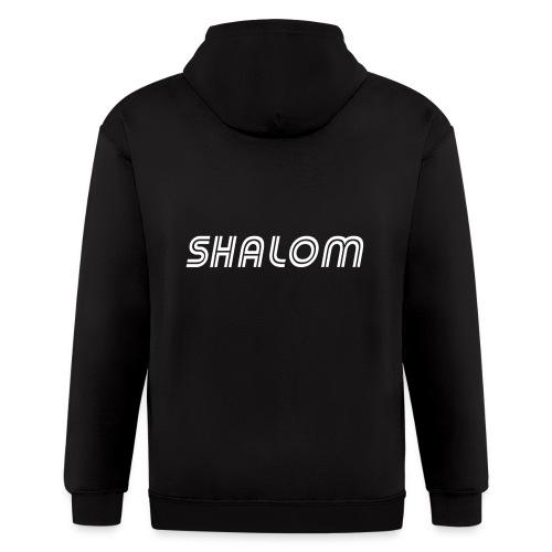 Shalom, Peace - Men's Zip Hoodie