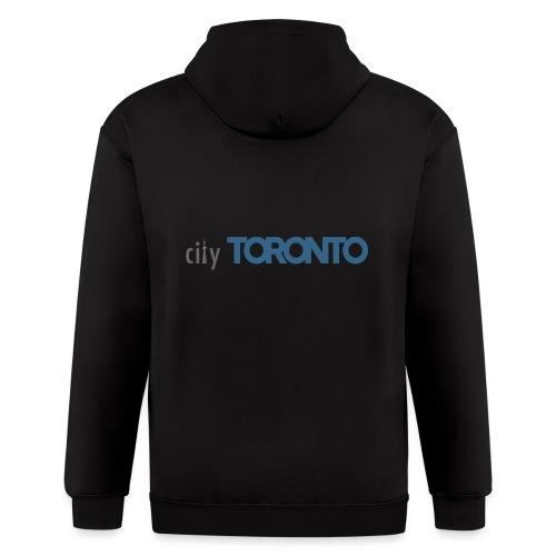 cityTorontoLogoNEW.png - Men's Zip Hoodie