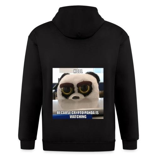 Crypto Panda Is Watching - Men's Zip Hoodie