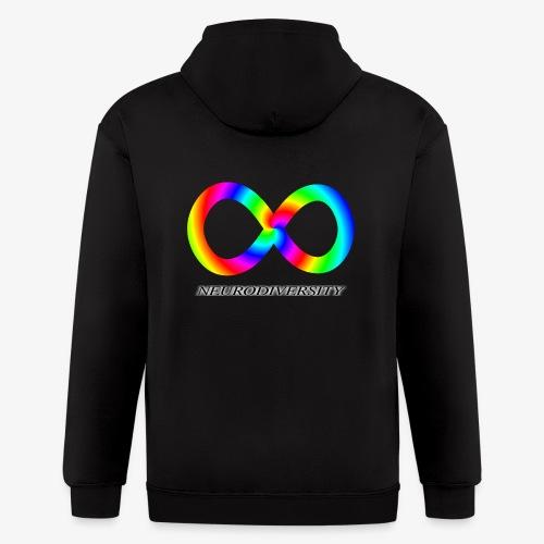 Neurodiversity with Rainbow swirl - Men's Zip Hoodie
