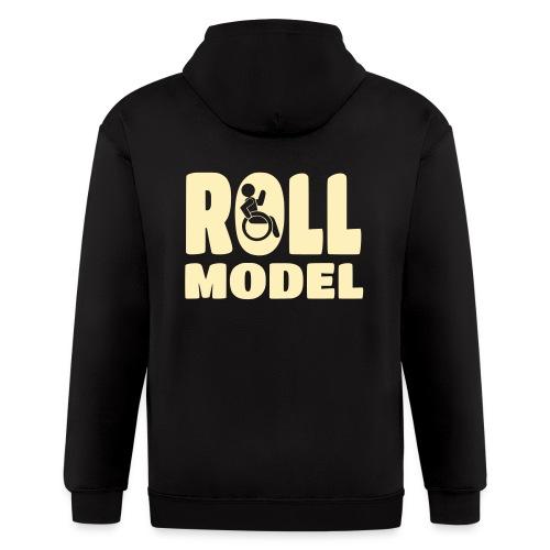 Wheelchair Roll model - Men's Zip Hoodie