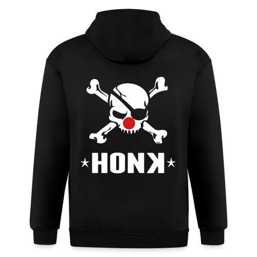 Honk White Letters - Men's Zip Hoodie
